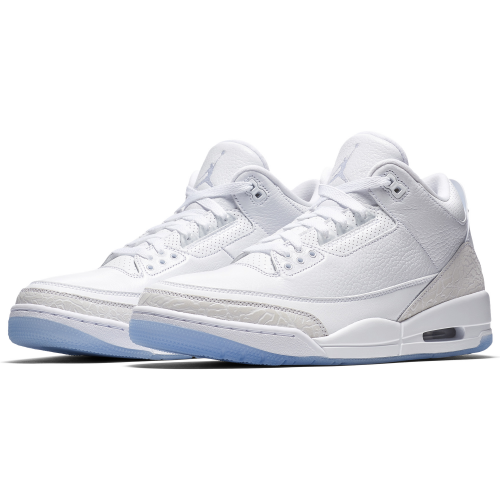"Air Jordan 3 Retro ""Pure White-Triple WHite"" 136064-111"