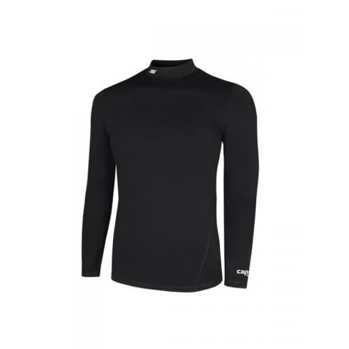 Capelli Sport Black Adult Tundra Long Sleeve Mock AGA-1284